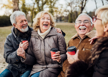 Old people enjoying life